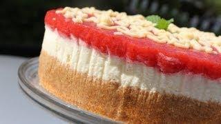 getlinkyoutube.com-Cheesecake sans cuisson/Strawberry Cheese Cake