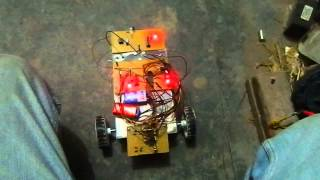 obstacle detector based rf robot