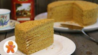 getlinkyoutube.com-Медовый торт с нежным кремом на вареной сметане