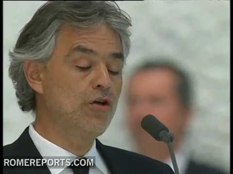 Andrea Bocelli sings 