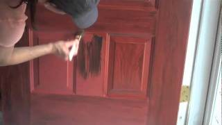 getlinkyoutube.com-Faux wood grained door