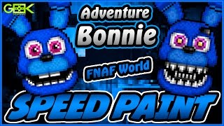 ► Adventure Bonnie - SPEEDPAINT - FNAF World - Pixel art