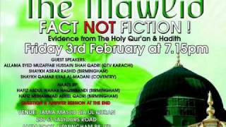 THE MAWLID FACT NOT FICTION