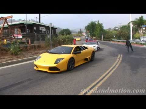 Exotic Car Drive 2008-getting ready for the drive-Enzos, Maserati MC12, Gumpert and more!
