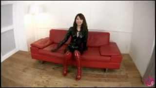getlinkyoutube.com-Japanese Fetish AV Japanese AV Actress With Black Enamel Elbow Length Glove .flv