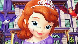 getlinkyoutube.com-Disney Sofia The First Puzzle Game Picture Princess Play Set De Kids Toys Puzzles Game Rompecabezas