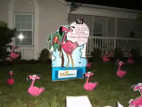 Flamingo Birthday Surprise