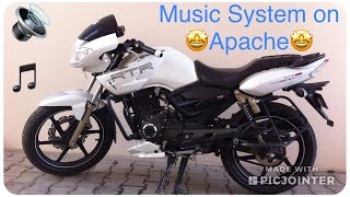 getlinkyoutube.com-TVS Apache RTR 180 Music System Installation