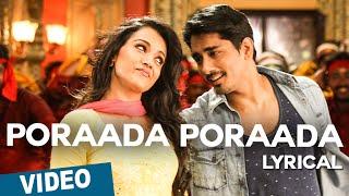 getlinkyoutube.com-Poraada Poraada Song with Lyrics | Aranmanai 2 | Siddharth | Trisha | Hansika | Hiphop Tamizha
