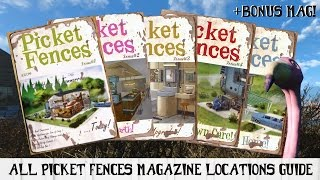 All PICKET FENCES Magazine Locations Guide for Fallout 4 + Bonus Mag!