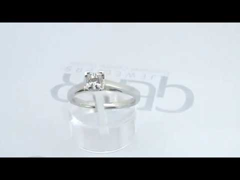 Gear Jewellers Dublin 18ct White Gold Princess Cut Diamond Solitaire Engagement Ring 0101154