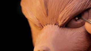 getlinkyoutube.com-Sculpting Fox McCloud from Starfox Traditionally.