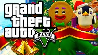 getlinkyoutube.com-GTA 5 Funny Moments! - The Christmas Slaughter!! (GTA 5 Festive Skits!)