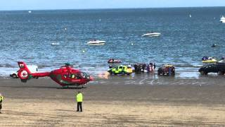 getlinkyoutube.com-Abersoch beach accident, air ambulance, the warren