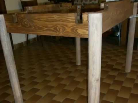 Come costruire un tavolo da pranzo allungabile fai da te for Costruire un tavolo richiudibile