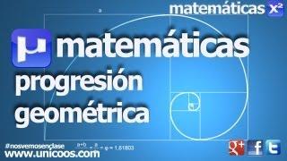 Imagen en miniatura para Razón de una progresión geométrica