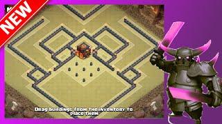 getlinkyoutube.com-New BEST Th10 War Base | The Beast | Dead Zone Base - Anti-Valk, Queen Walk & Gowiwi