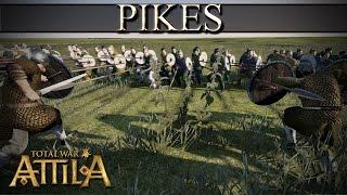 getlinkyoutube.com-Total War Attila Mechanics - Pikes vs Infantry