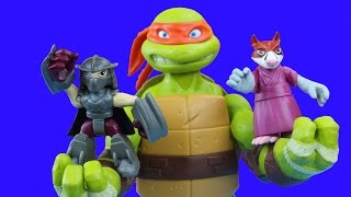 getlinkyoutube.com-Teenage Mutant Ninja Turtles Get Supersized by Shredder TMNT Splinter Toys Leo Donnie Mikey Raph