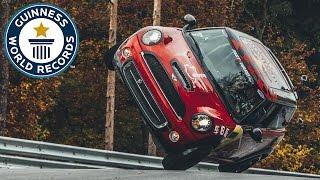 getlinkyoutube.com-Fastest side wheelie lap of the Nürburgring Nordschleife in a car - Guinness World Records