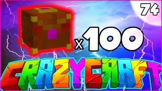 "getlinkyoutube.com-Minecraft CRAZY CRAFT 3.0 SMP - ""100 PANDORA'S BOX OPENING"" - Episode 74"
