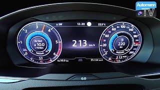 getlinkyoutube.com-2017 Passat Alltrack BiTDI (240hp) - 0-222 km/h acceleration (60FPS)