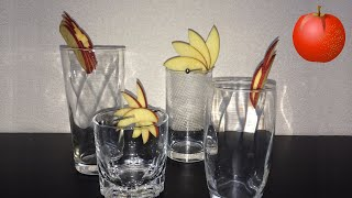 getlinkyoutube.com-超簡単♪ カクテル・デコレーション(リンゴ編) / Very simple cocktail decoration (apple edition)