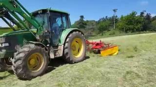 Enorossi DR420 Tedder & Rake Combination working in UK & Ireland 2016