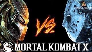 PREDATOR FIGHTS JASON VOORHEES INSANE BATTLE!   Mortal Kombat X: