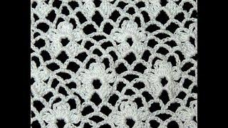 getlinkyoutube.com-Crochet : Punto Enrejado con Flor.  Parte 1 de 2