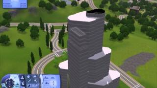 getlinkyoutube.com-Trump Tower Chicago - How to build Highrise / Apartment / Skyscraper in The Sims 3 - Tutorial