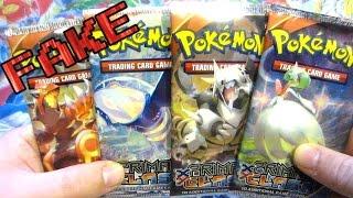 getlinkyoutube.com-Opening FAKE Primal Clash Pokemon Booster Packs!