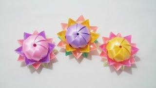 getlinkyoutube.com-พับเหรียญโปรยทาน ดอกบัวบาน (Lotus)