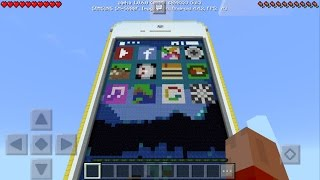 Working iPhone in Minecraft Pocket Edition 1.0.6!!!