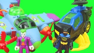 Imaginext The Joker Plane & Batman Batcopter Battle Gotham City Toy Story Just4fun290