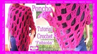 """getlinkyoutube.com-Poncho Rectangular Capa a Crochet """"Fabiola"""" por Maricita ColoursTutorial Gratis"""