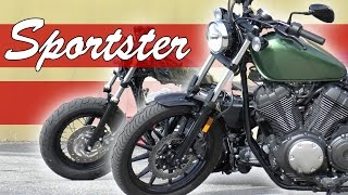 getlinkyoutube.com-Yamaha Bolt VS Harley 1200 Sportster 48 Edition - Review/Dyno
