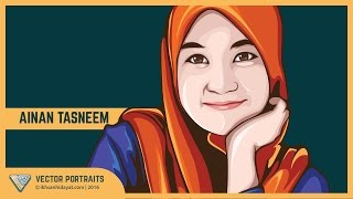 getlinkyoutube.com-#01 - Tutorial vector portrait using Adobe Illustrator _ Ainan Tasneem