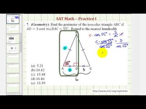 SAT Math (Geometry) - Practice 1.7