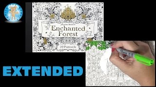getlinkyoutube.com-Enchanted Forest Johanna Basford Adult Coloring Book Postcards Castle Extended - Family Toy Report