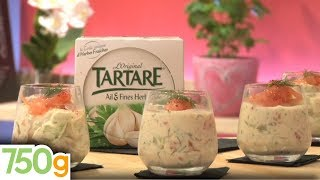 getlinkyoutube.com-Verrine fraîcheur saumon fumé, Tartare et concombre - 750 Grammes