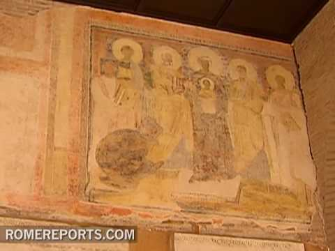 A seventh-century fresco discovered in the Basilica of Santa Sabina