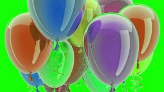 Green Screen Transition Ballons 01