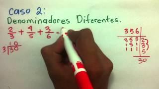getlinkyoutube.com-Matemáticas: Cómo sumar fracciones -Sumar fracciones con mismo y diferente denominador