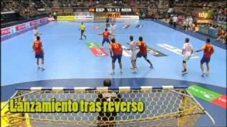 getlinkyoutube.com-Jugadas de balonmano - Mundial de Suecia 2011