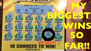 MY BIGGEST AND BEST WINS SO FAR playing California Lottery Scratchers - Updated September 26th 2016