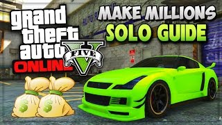 """getlinkyoutube.com-GTA 5 SOLO Unlimited Money Missions! """"How To Make Money Fast"""" In GTA 5 Online (GTA V Gameplay)"""