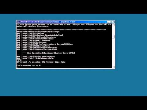 MCITP 70-640: Installing Active Directory on Server Core