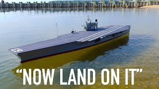 R/C Planes Land on R/C Aircraft Carrier
