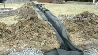getlinkyoutube.com-DIY How to build a French Drain.  How to drain surface water in your yard or property.